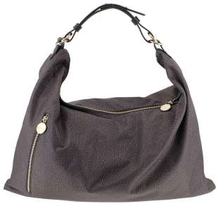 Borbonese Hobo Extra Large in Jet OP Tundra/Marrone Testa Moro 934449296R01