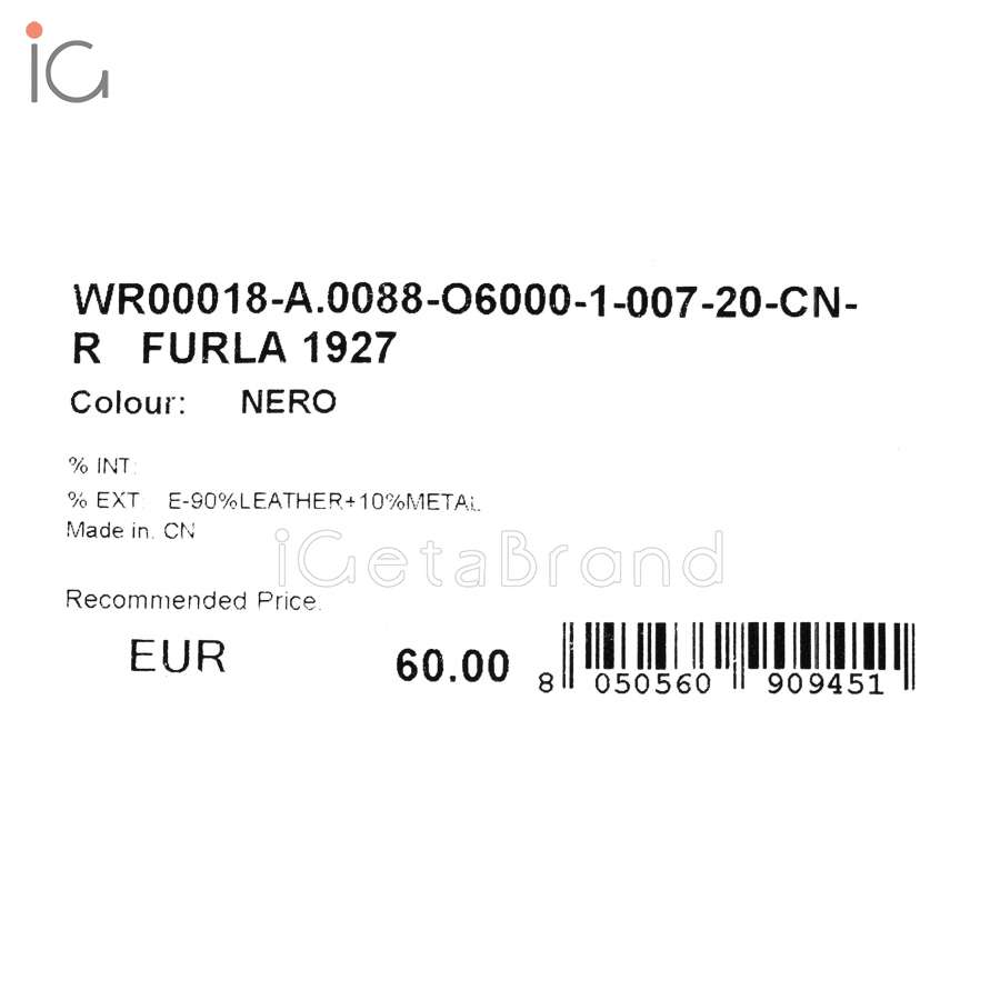 Furla 1927 Keyring Double Ring Nero WR00018_AX0088_O6000